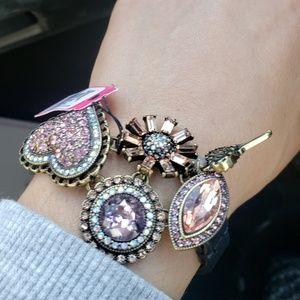 Betsey Johnson rhinestone detail bracelet